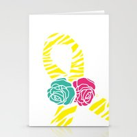 Endometriosis Ribbon 2 Stationery Cards