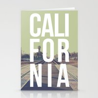 California on the Tracks Again Stationery Cards