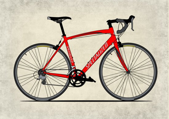 Specialized Racing Road Bike Canvas Print