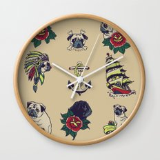 Pugs and the sea Wall Clock