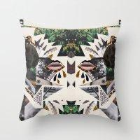AYAHUASCA CAT (Kaleidoscope)  Throw Pillow