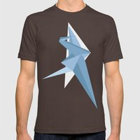Crane Mens Fitted Tee Brown SMALL