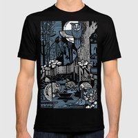 Night Mens Fitted Tee Black SMALL