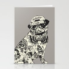Pug Tattoo Stationery Cards