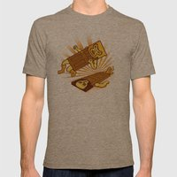 Lucha Doors!  Mens Fitted Tee Tri-Coffee SMALL