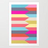 colorful confusion Art Print