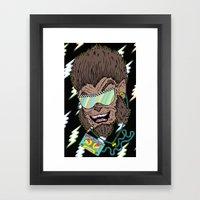 Hungry Like The Werewolf Framed Art Print