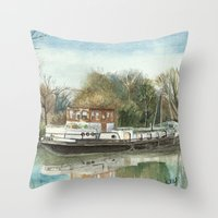 Rosa On The Grand Union … Throw Pillow