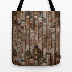 Encrypted Map Tote Bag