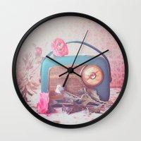 Vintage Radio. Wall Clock
