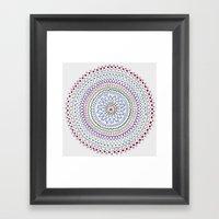 Mandala Smile B Framed Art Print