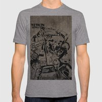 Berlin Street Art Concre… Mens Fitted Tee Athletic Grey SMALL