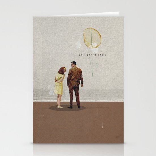 Last Day Of Magic | Collage Stationery Card