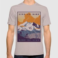 live to ride, ride to live retro cycling poster Mens Fitted Tee Cinder SMALL
