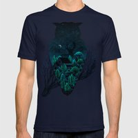 Owlscape Mens Fitted Tee Navy SMALL