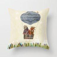 Mr Fox And Bears Wondrou… Throw Pillow
