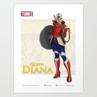 QUEEN DIANA (Silver) Art Print