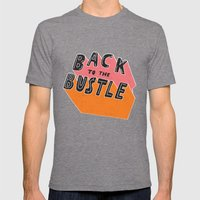 Back to the Bustle Mens Fitted Tee Tri-Grey SMALL