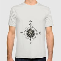 Compass - By Genu Mens Fitted Tee Silver SMALL