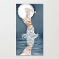Moonlight Bather Print Canvas Print