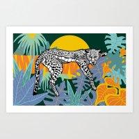 Jungle Illustration Art Print