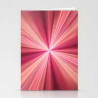 Pink Rays Abstract Fract… Stationery Cards