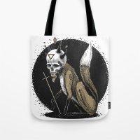 Kitsune Demon Fox Tote Bag