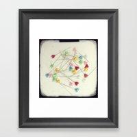 I Heart Pins Framed Art Print