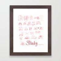 Study... Framed Art Print