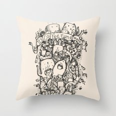 Coffee time! Throw Pillow