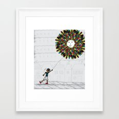 After the park! Framed Art Print