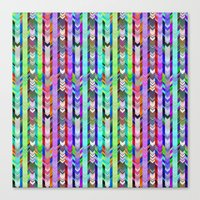CRAZY CHEVRONS ARROWS TRICOLOR Canvas Print