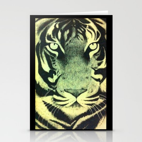 Be a Tiger (Yellow) Stationery Card