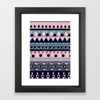 PASTEL NORDIC TRIBAL II Framed Art Print