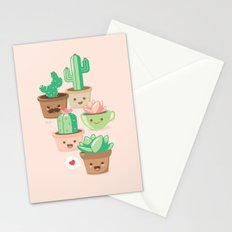 Kawaii Succulents Stationery Cards