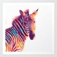 The Aesthetic - Zebra Art Print