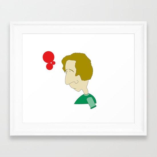 Hmmm...? Framed Art Print