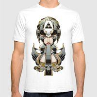 Random Access Madness Mens Fitted Tee White SMALL