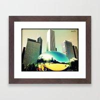 A day at Millenium Park Framed Art Print