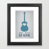 Blue Valentine Minimal P… Framed Art Print