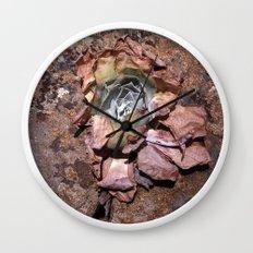 Desert Flower Wall Clock