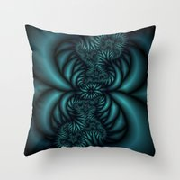 What is above is also below fractal  Throw Pillow