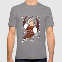 Hoopoe Mens Fitted Tee Tri-Grey SMALL
