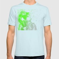 Flashy T-Rex  Mens Fitted Tee Light Blue SMALL