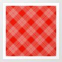 Red Pattern Design Art Print