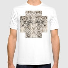 Cruciform White Mens Fitted Tee SMALL