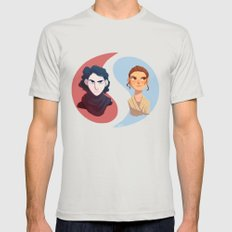 Dark And Light,ying And … Mens Fitted Tee Silver SMALL