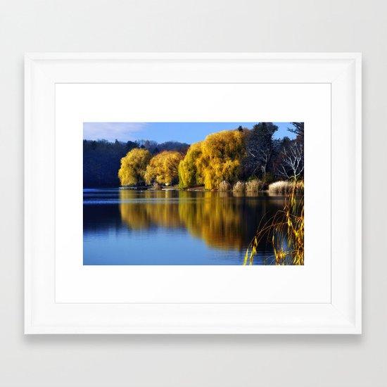 November Pond  Framed Art Print