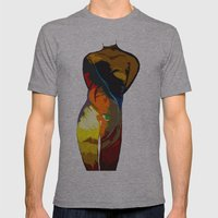 Feather Love Mens Fitted Tee Athletic Grey SMALL