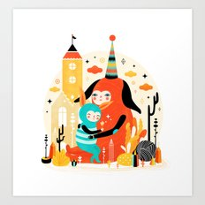 Woombi & Loondy Art Print